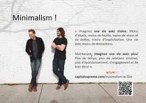 Minimalism, affiche promotion français miniature